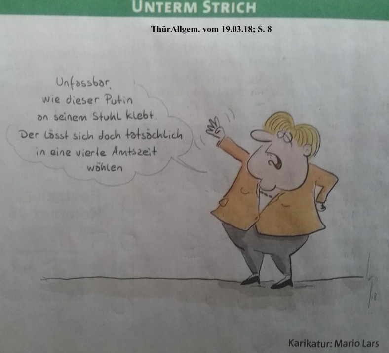 Karikatur AmtsZeit Merkel_Putin