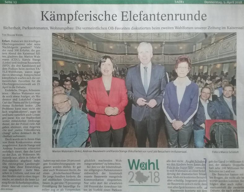 018 OB - WAHLEN in EF Forum 2 PresseFazit