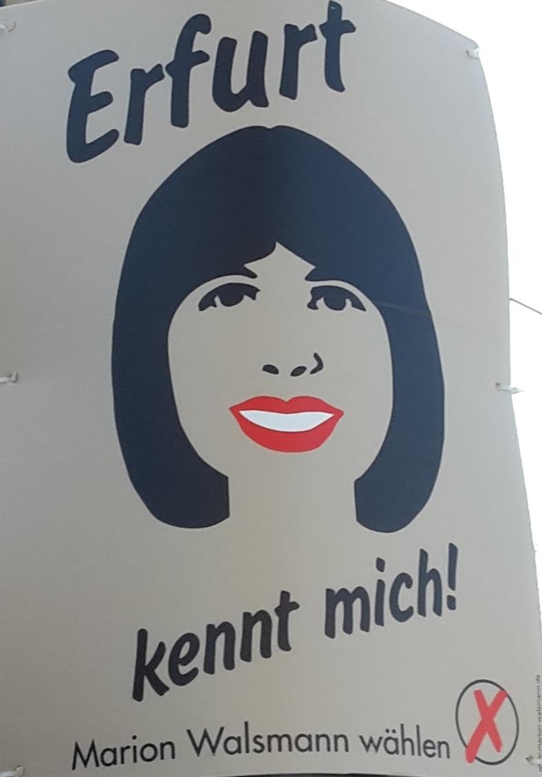 019 OB - WAHLEN in EF Ein mutiges Plakat