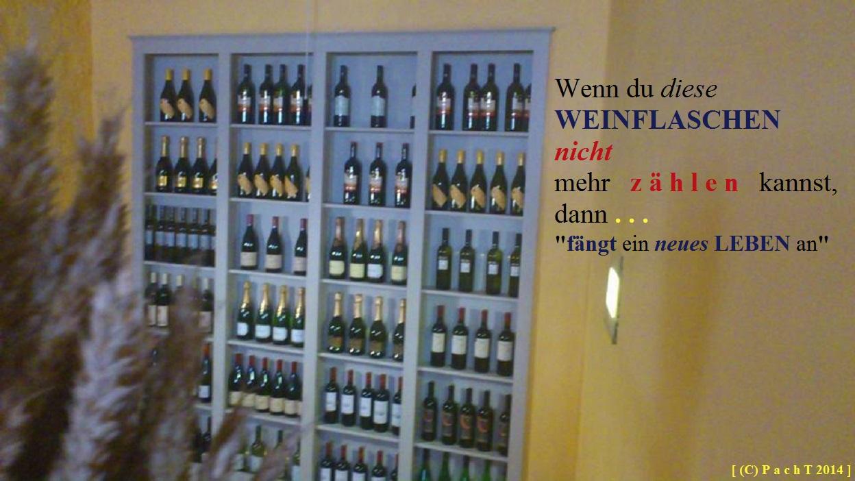 WEINFlaschen zählen