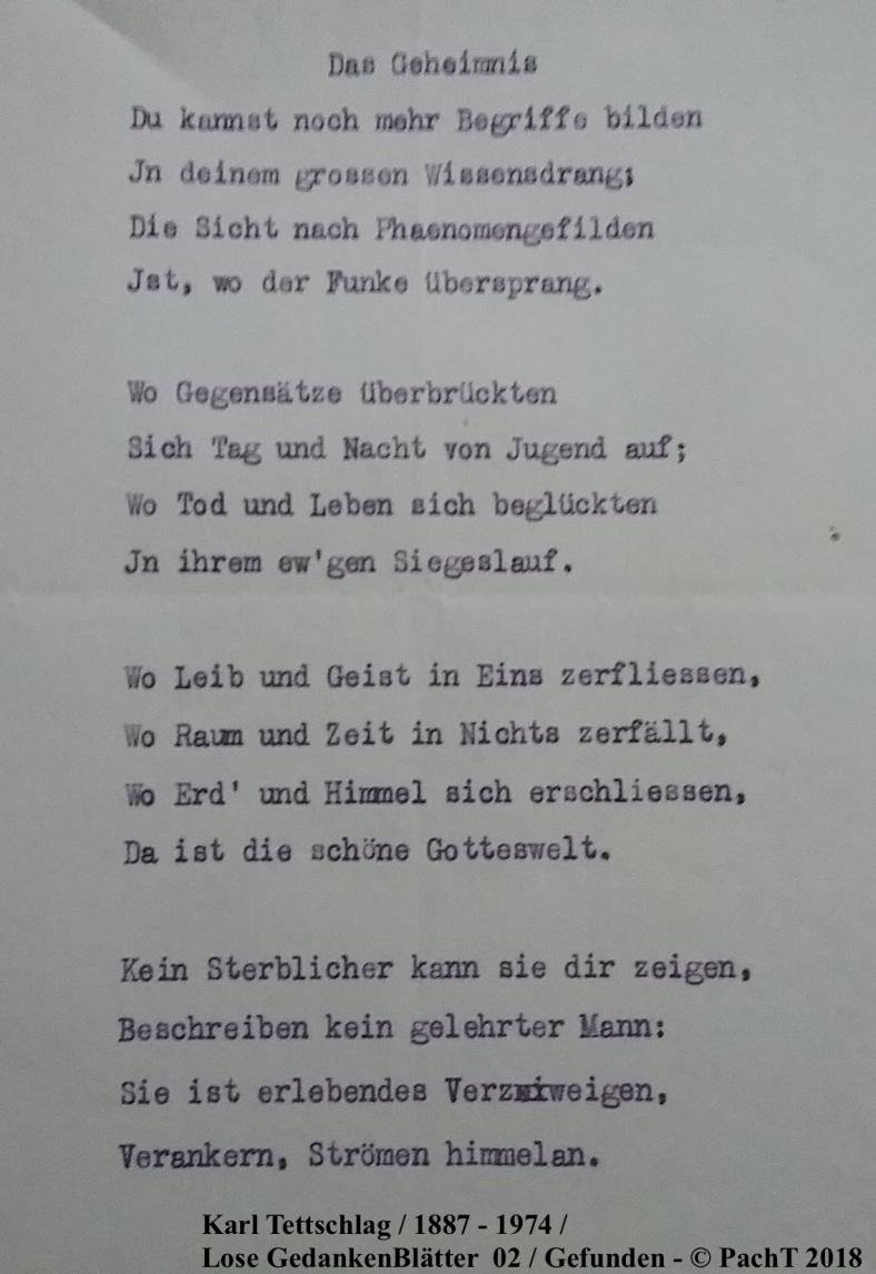 1887 - 1974 Erinnerung an meinen Opa _ Lose GedankenBlätter 02