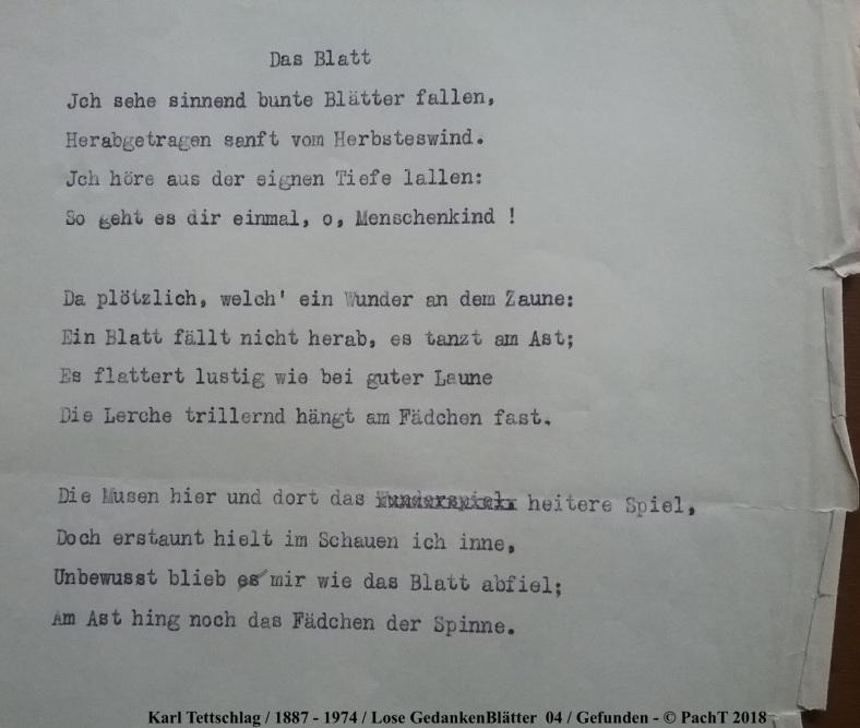 1887 - 1974 Erinnerung an meinen Opa _ Lose GedankenBlätter 04
