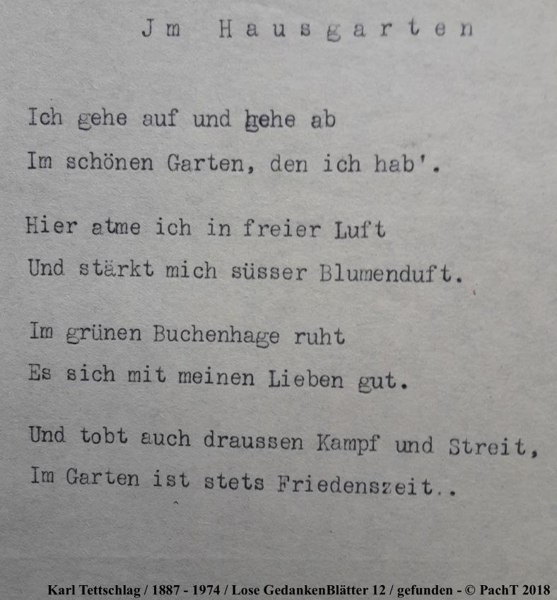 1887 - 1974 Erinnerungen an meinen Opa _ Lose GedankenBlätter 12