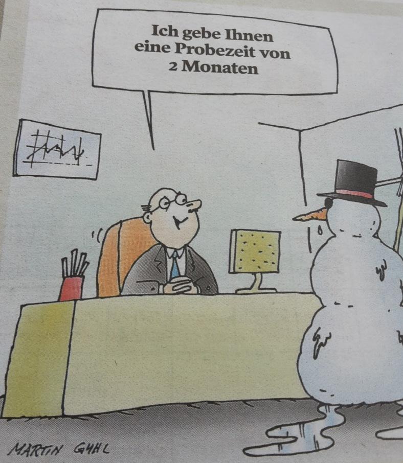 Karikatur ProbeZeit