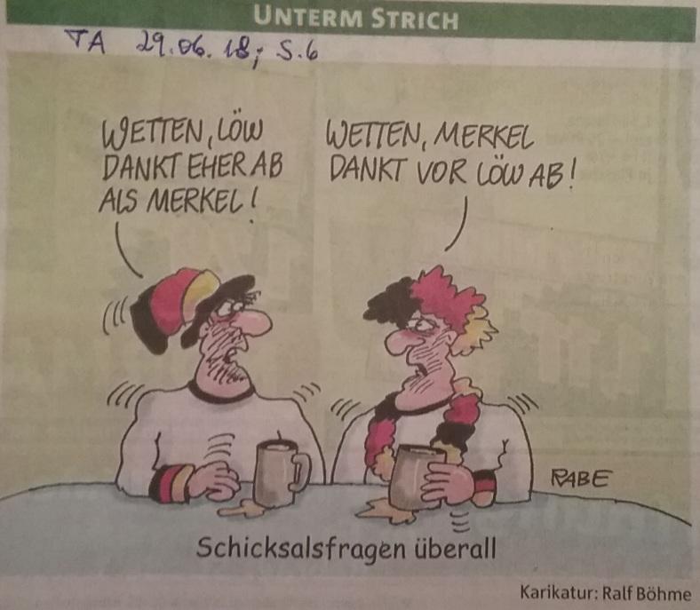 Karikatur SchicksalsFrage