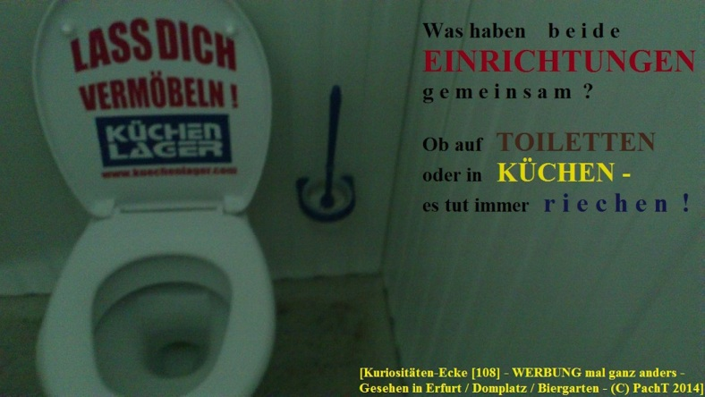KURIOS 108 Kü-Werbung im Abort