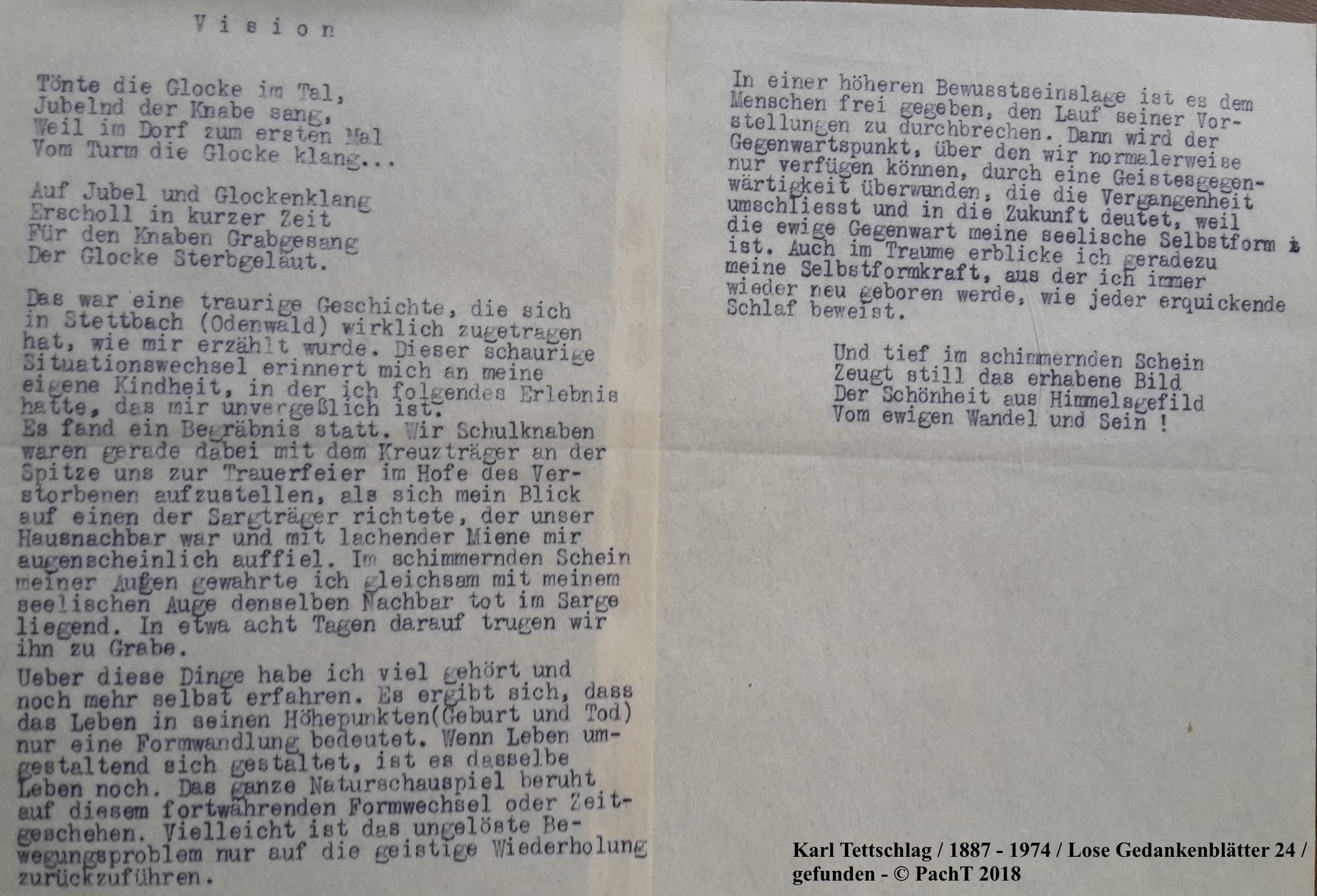 1887 - 1974 Erinnerungen an meinen Opa _ Lose GedankenBlätter 24