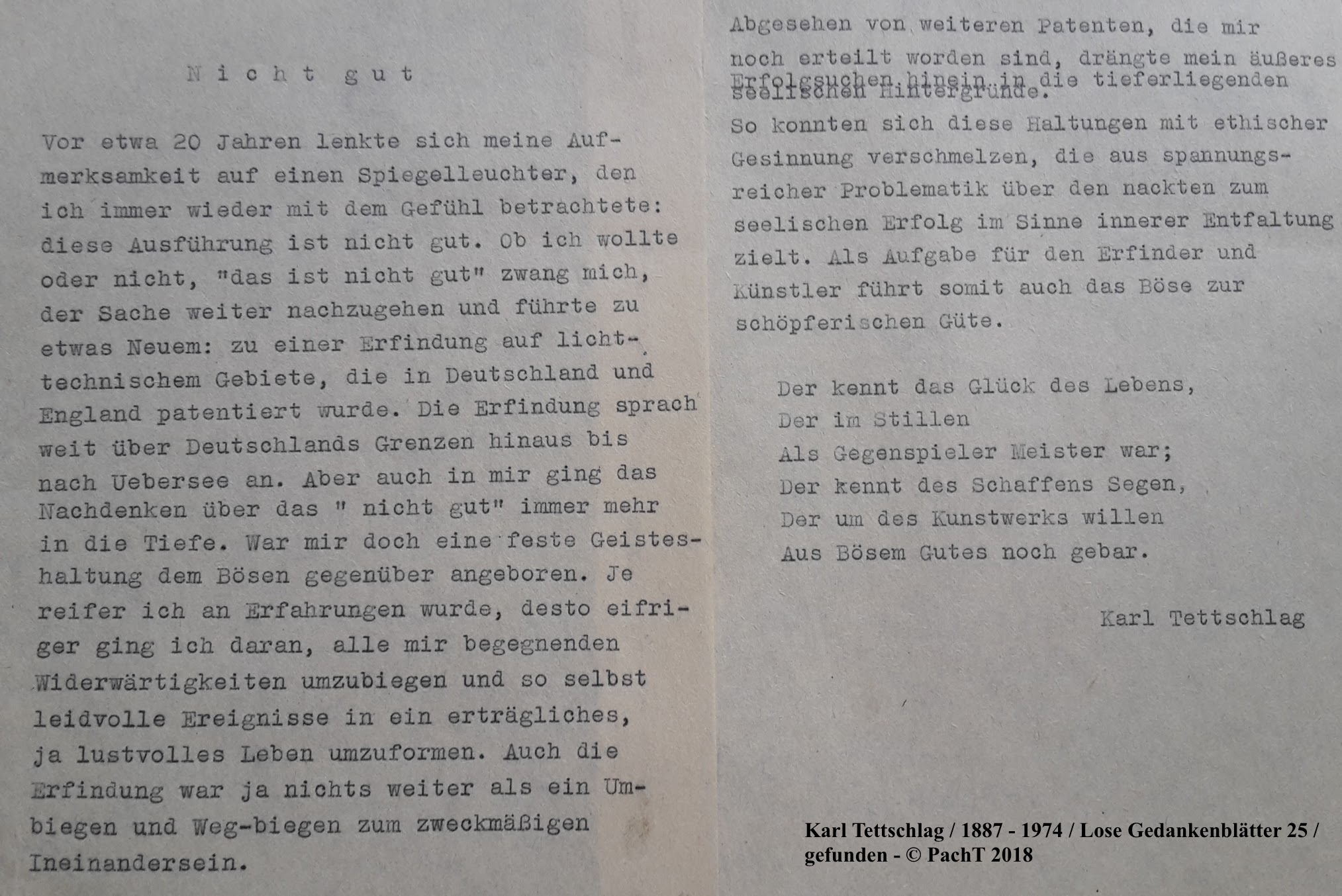 1887 - 1974 Erinnerungen an meinen Opa _ Lose GedankenBlätter 25