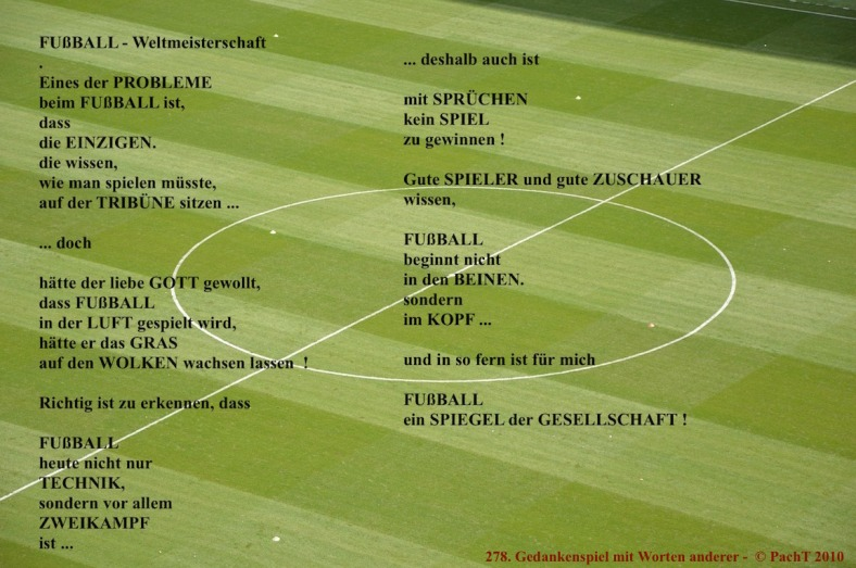 GedankenSpiel 278 FussBall-WM