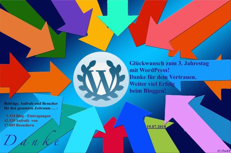 PachTs wordpress 27 Gratulation zum 3. Jahrestag bei WP