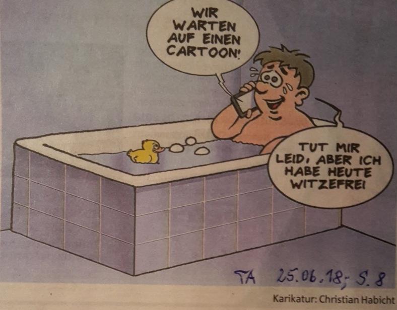 Karikatur Hitze - frei