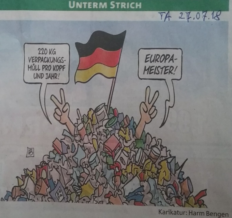 Karikatur Müll - Meister