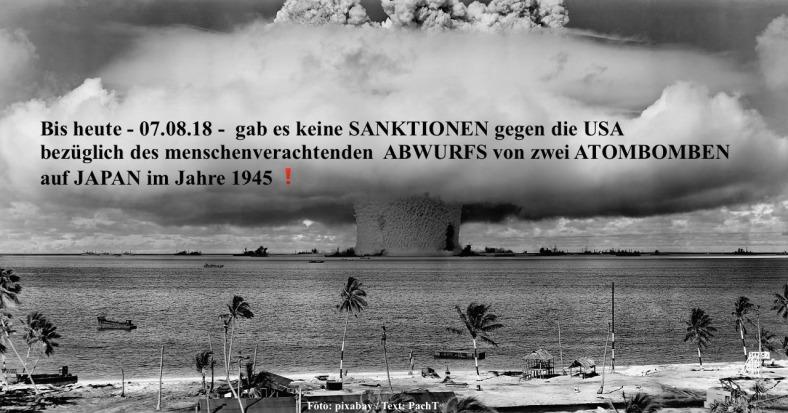 Sanktionen gegen die USA blieben aus 07.08.18