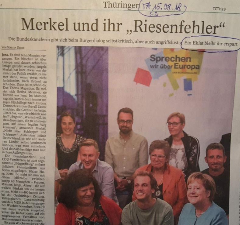 TA-Artikel über BürgerDialog in Jena 2018.08.15 1 Blog 16.08.18