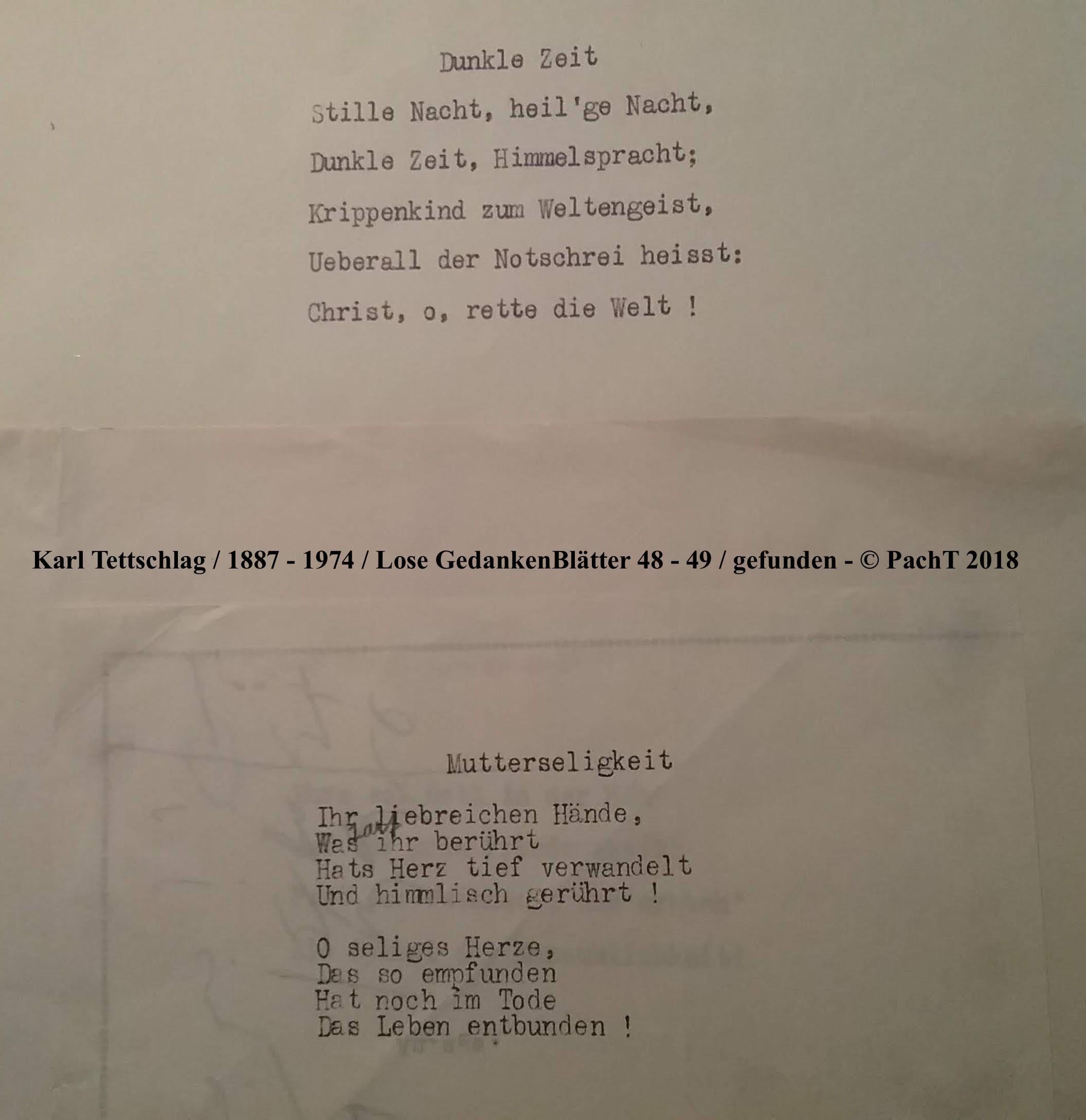 1887 - 1974 Erinnerungen an meinen Opa _ Lose GedankenBlätter 48_49
