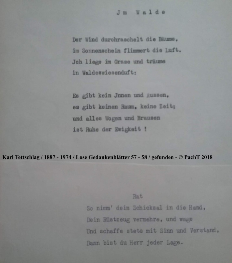 1887 - 1974 Erinnerungen an meinen Opa _ Lose GedankenBlätter 57 - 58