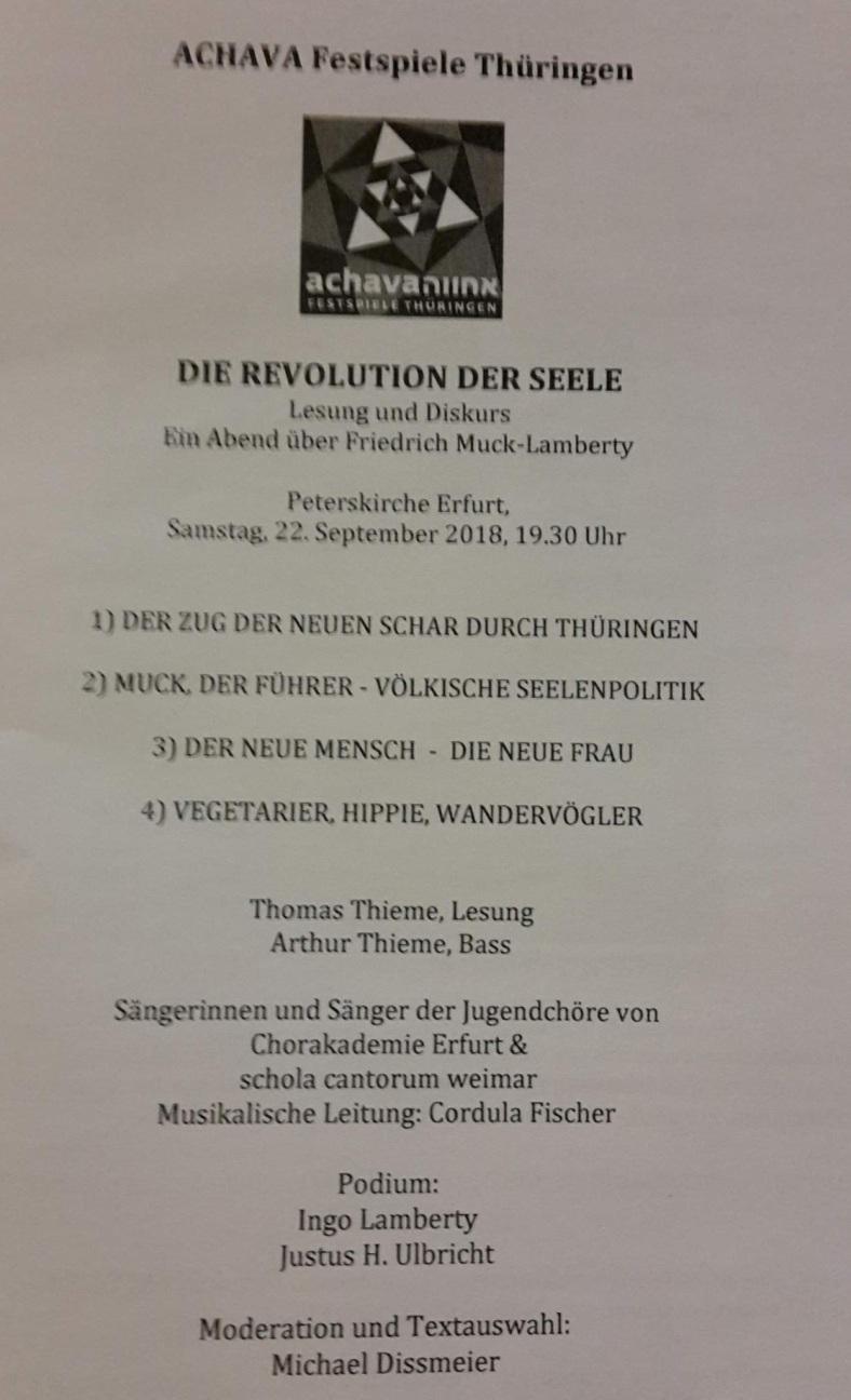 2018.09.22 ACHAVA 104 Revolution der Seele