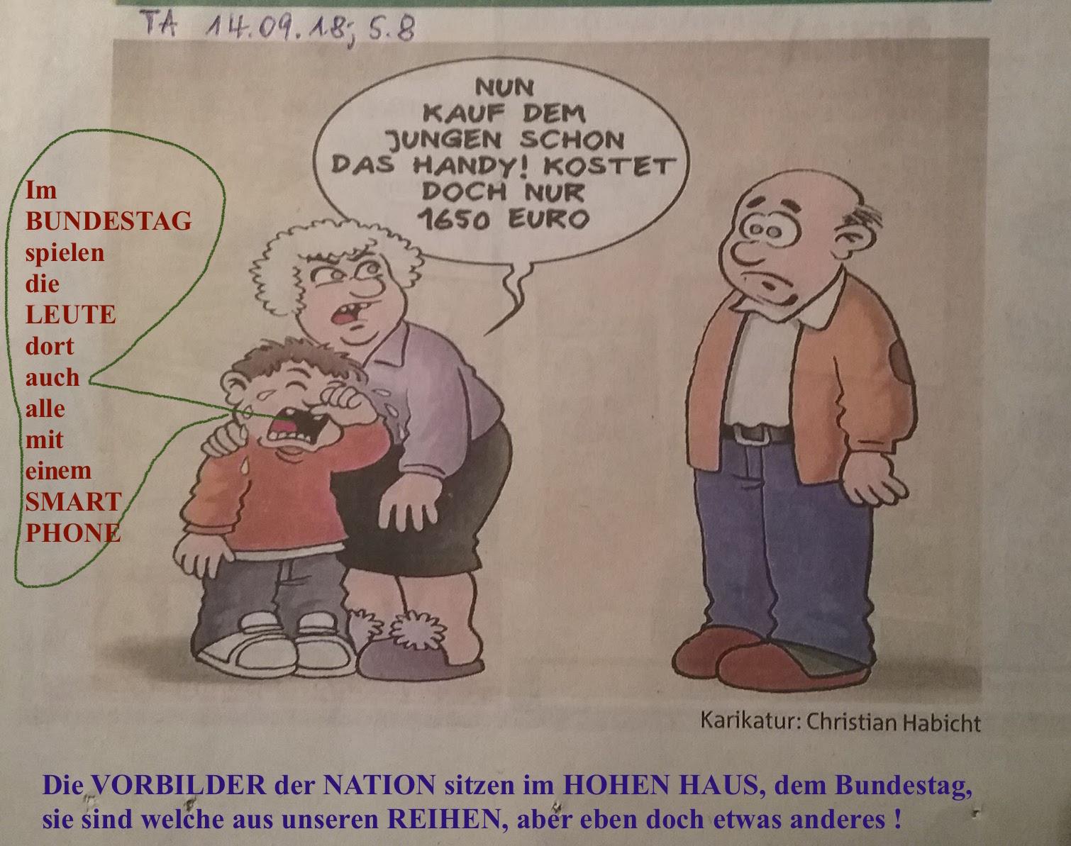 Karikatur Handy