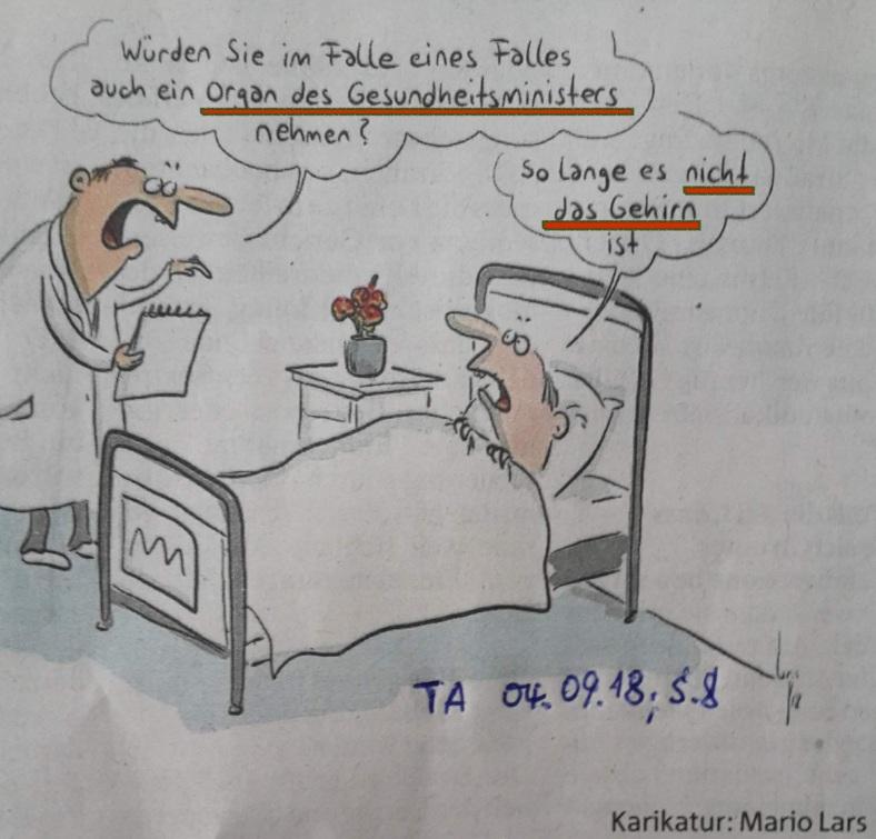 Karikatur OrganSPENDE