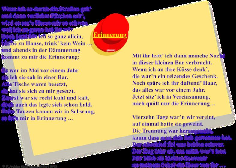 Gedicht im Bild_Erinnerung 1962