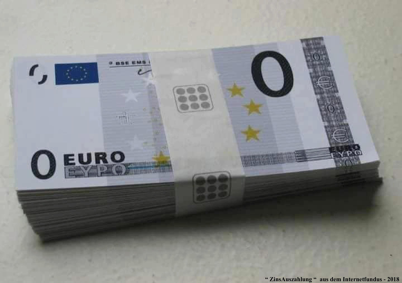 Geld EURO - ZinsNachZahlung