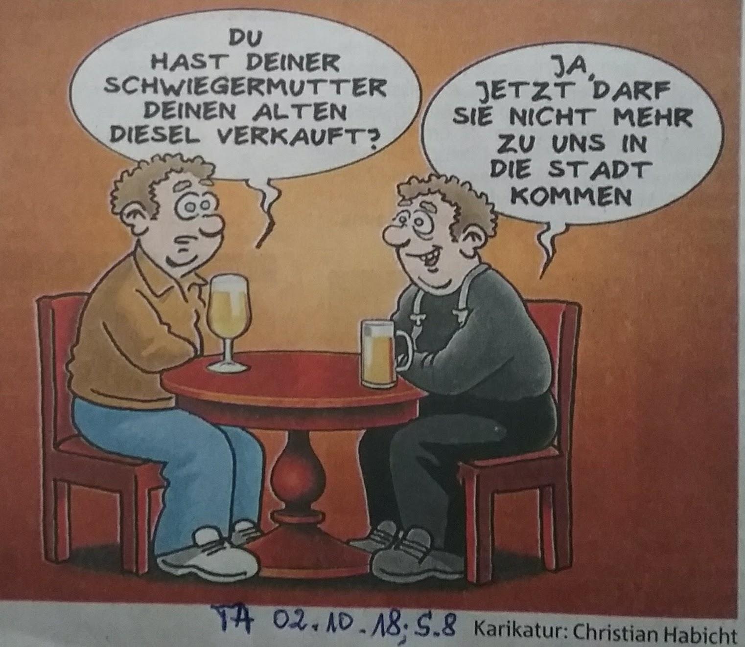 Karikatur Schwiegermutter