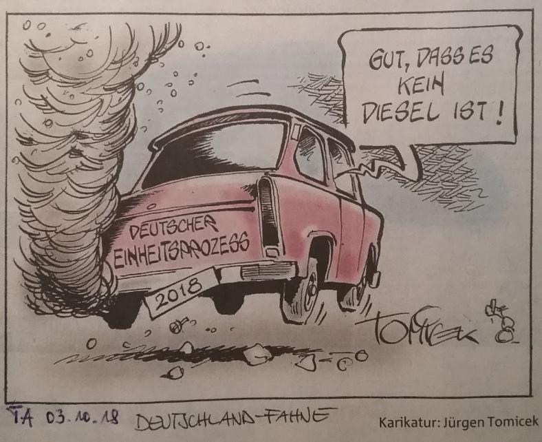 Karikatur TRABBI ohne Diesel