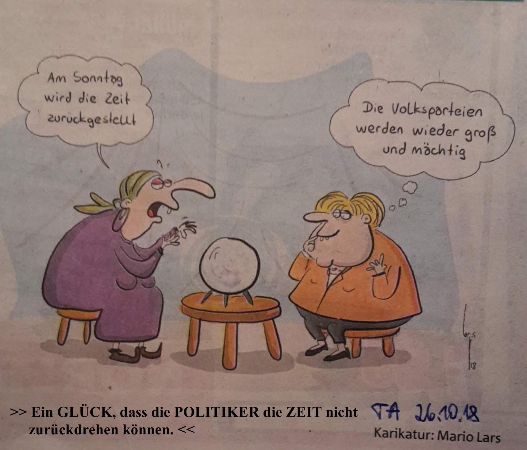 Karikatur ZeitUmstellung