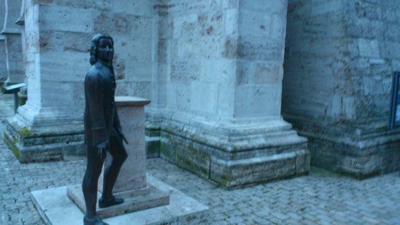 Stadt MÜHLHAUSEN 32 J.S. Bach vor Divi Blasil Kirche