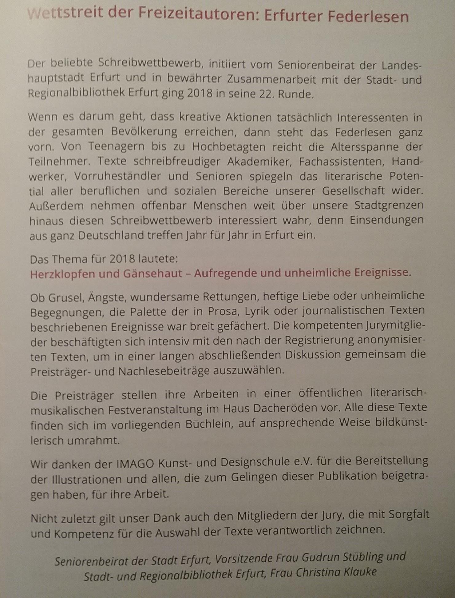 25.25.25  NACHLESE des 25. Erfurter FEDERLESENS    EINLADUNG zu ...