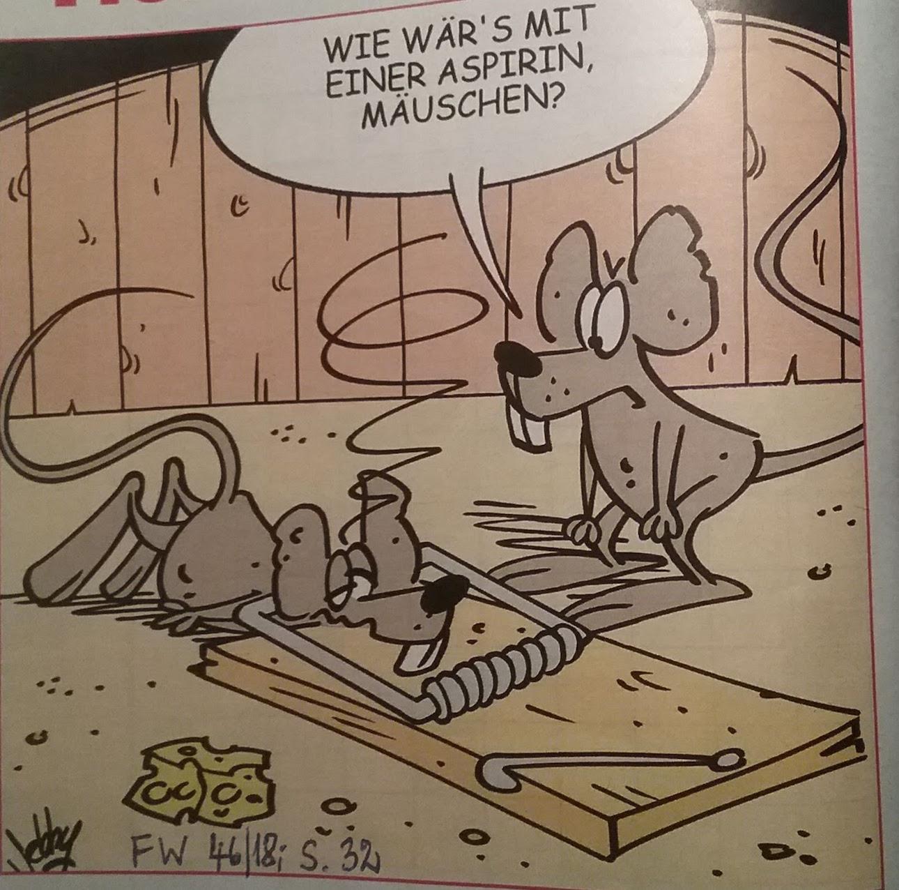 Karikatur Aspirin
