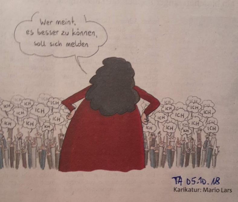 Karikatur Besserkönnen