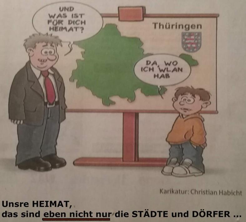 Karikatur WLAN - Heimat