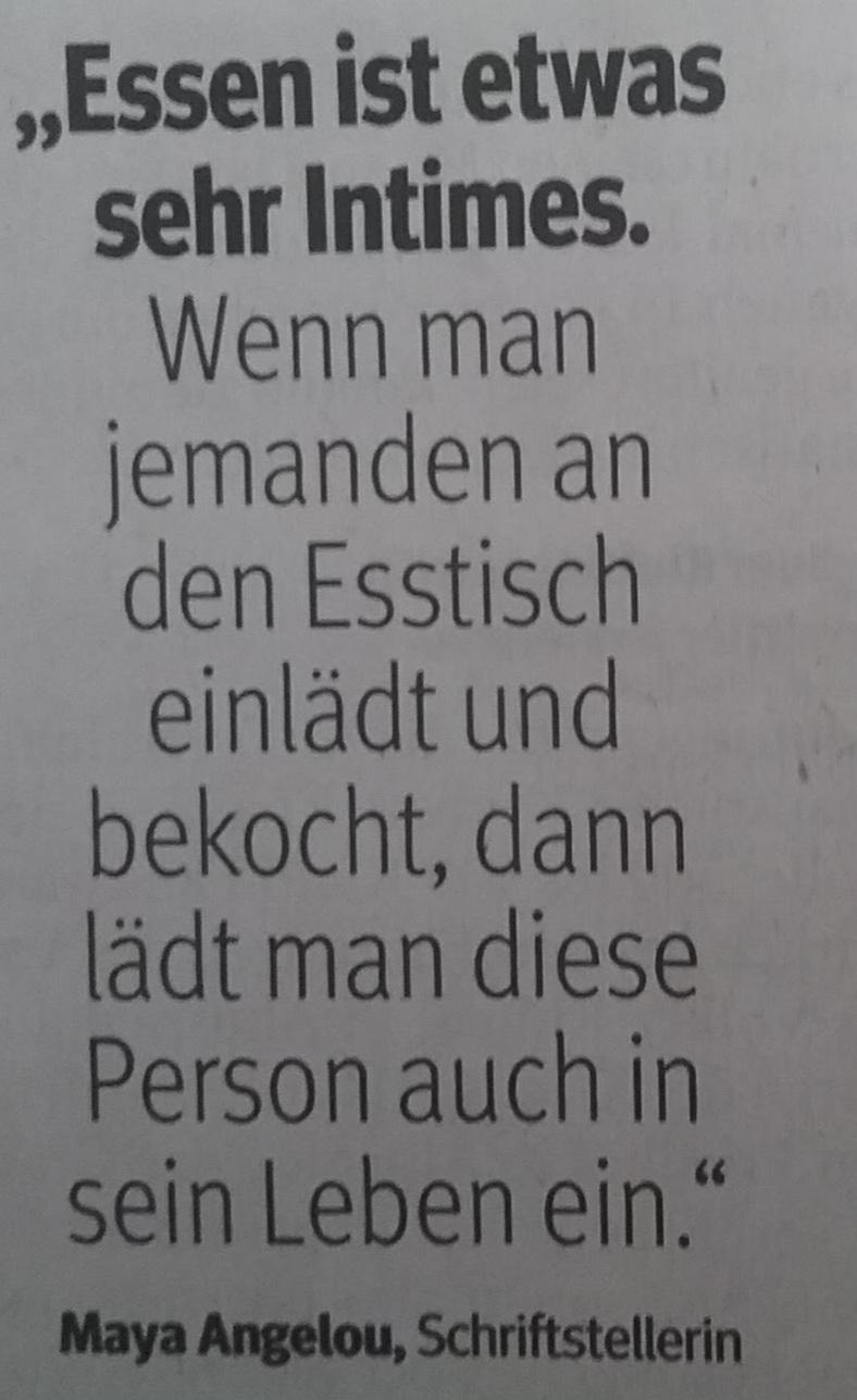 Zitat Essen _ intim