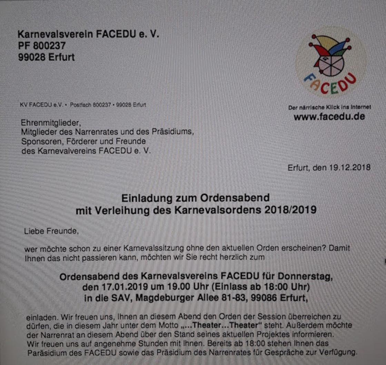 2019.01.17 Ordensabend Einladung