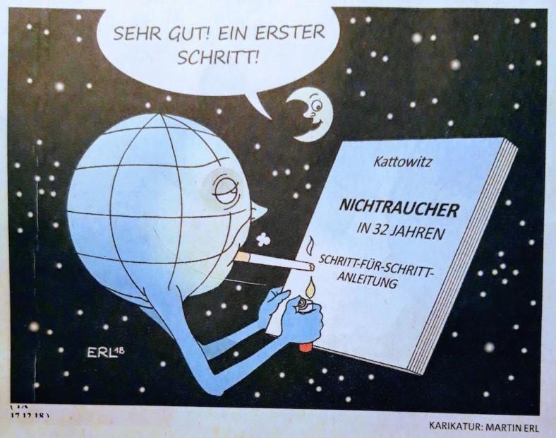 Karikatur NichtRAUCHERumwltSCHUTZ
