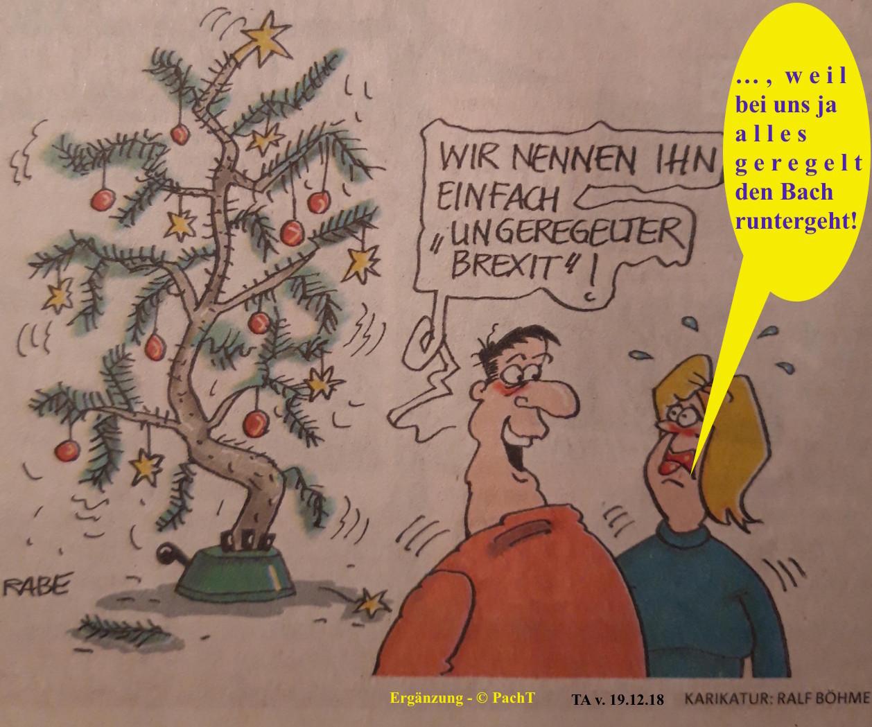 Karikatur Weihnachtsbaum krumm