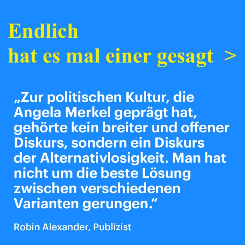 AMerkel Die alternativlose CDU-VORSITZENE