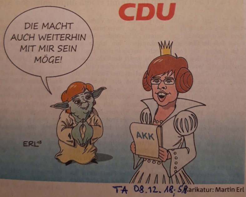 Karikatur Merkel lebt weiter