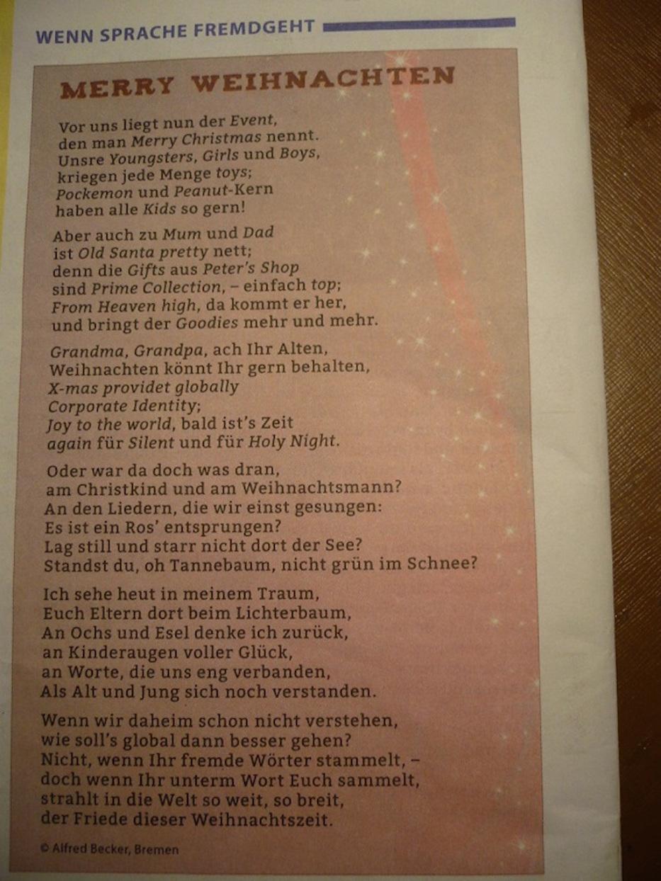 WeihnachtsGedicht ... SprachMix