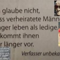 22.02.19 # Die  E H E  als LEBENSVERLÄNGERUNG für MÄNNER #