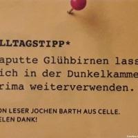 18.09.19 # AlltagsTipp : Defekte GLÜHLAMPE #