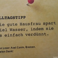19.09.19 # AlltagsTipp : WASSER sparen ... #