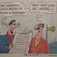 14.09.19 # LANDTAG soll SCHAUSPIELSCHULE ... #