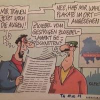 15.10.19 #Landtagswahl in #Thüringen - da brüllt der #Löwe, es #lachen die #Kandidaten von #Plakaten...